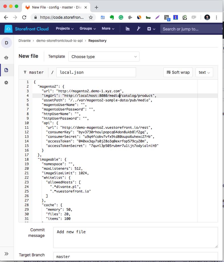 Magento integration | Storefront Cloud